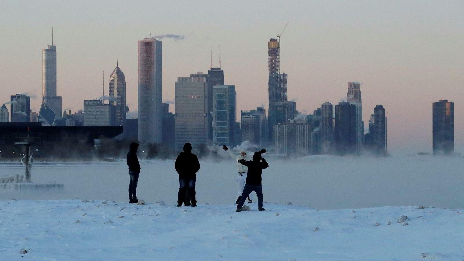 Chicago har hatt temperaturer helt nede i 30 minusgrader.