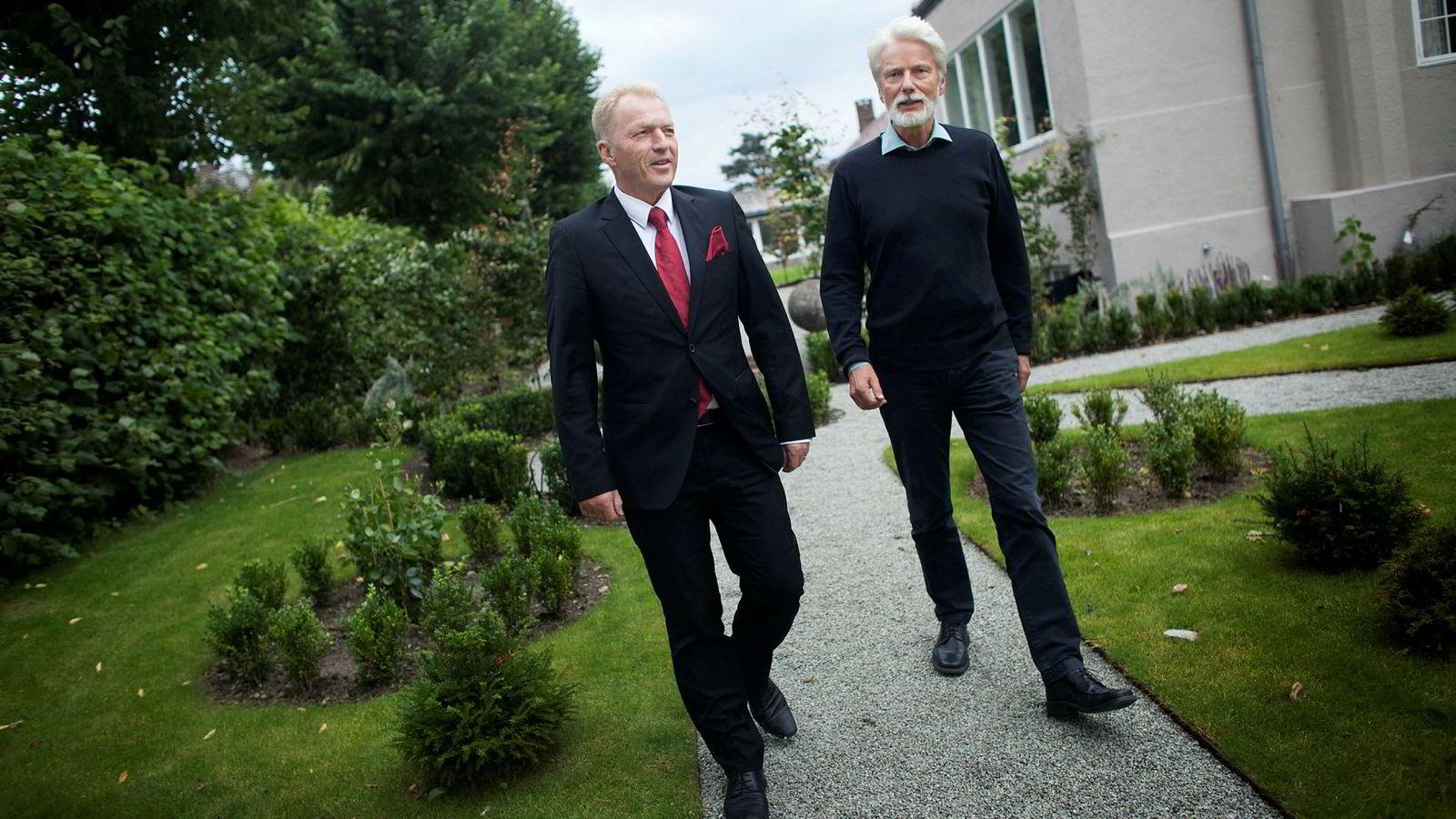 Åge K. Westbø (til venstre) og Tor Dagfinn Veen.