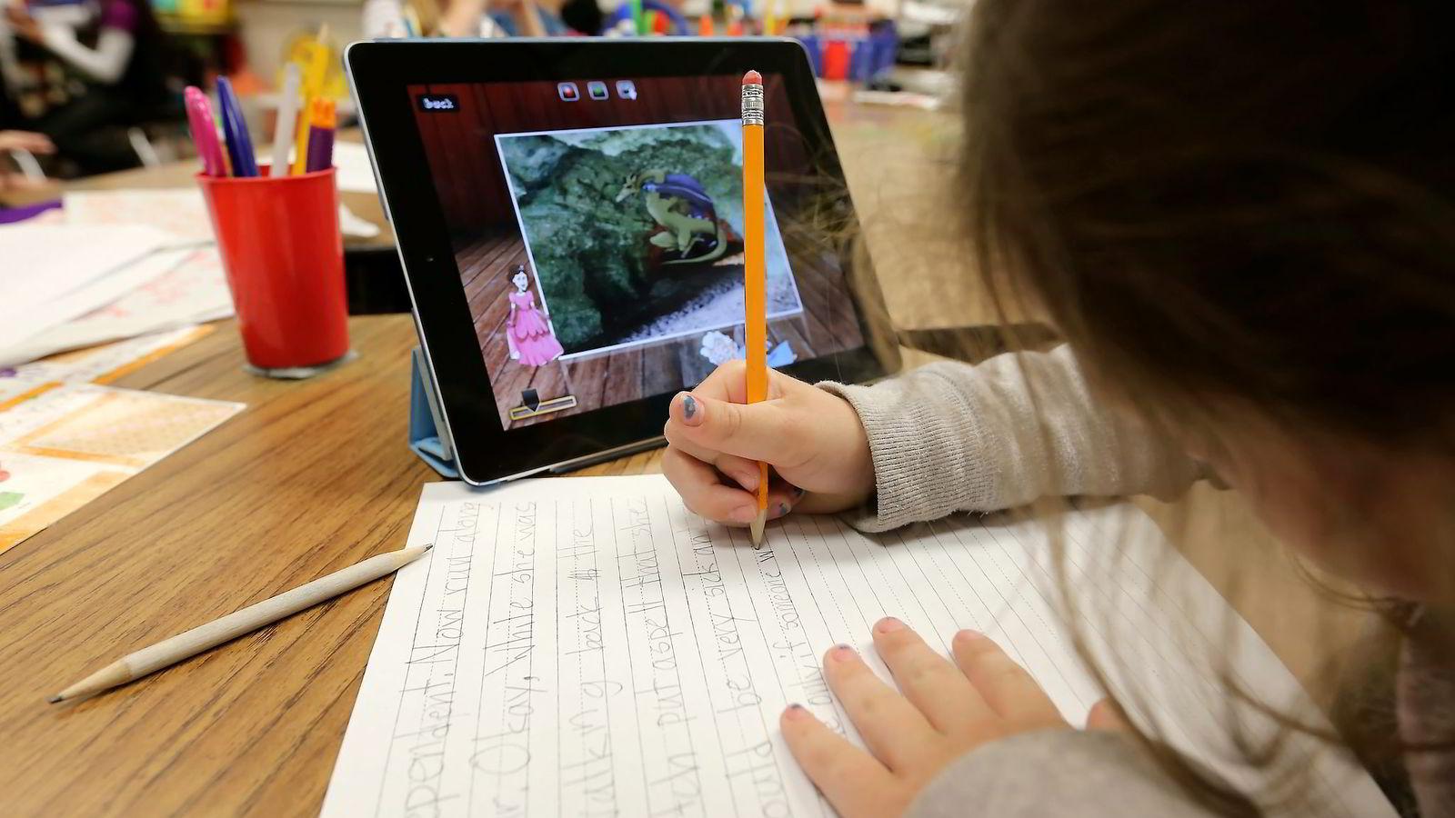 Teknologi kan være virkemiddelet som gir fordypningstrening i undervisningen, skriver artikkelforfatteren. Foto: Bloomberg News
