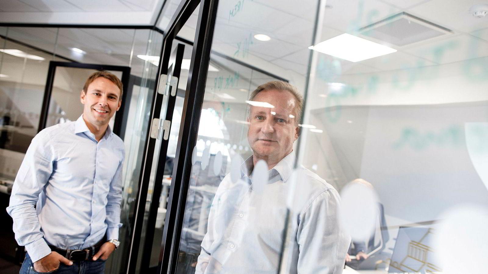 Fra kontorene i Rosenkrantz' gate i Oslo hanker Neptune Software inn storkunder over hele verden for sin programvare for utvikling av programvare. Administrerende direktør Andreas Gryteland Sulejewski har vært med siden begynnelsen av 2012, mens Ole-Andre Haugen er en av de to som startet opp i 2011.