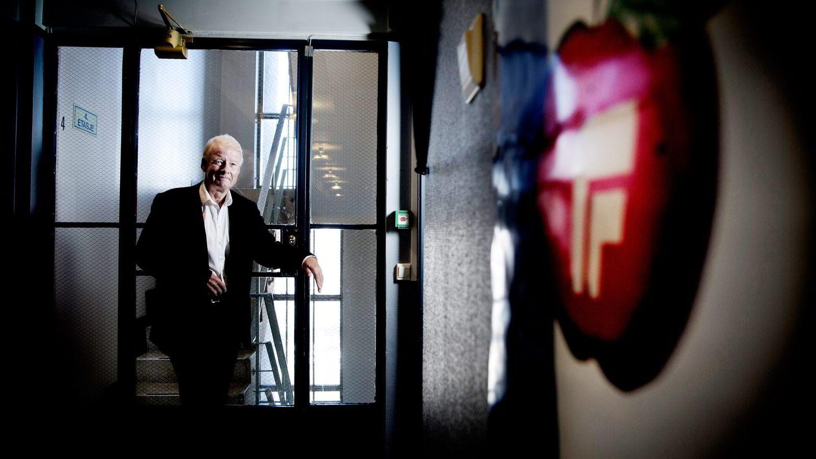 – Raymond Johansen utnytter det han angriper – nemlig den delte byen, sier Frps Carl I. Hagen om Aps forslag om eiendomsskatt i Oslo. Foto: Linda Næsfeldt
