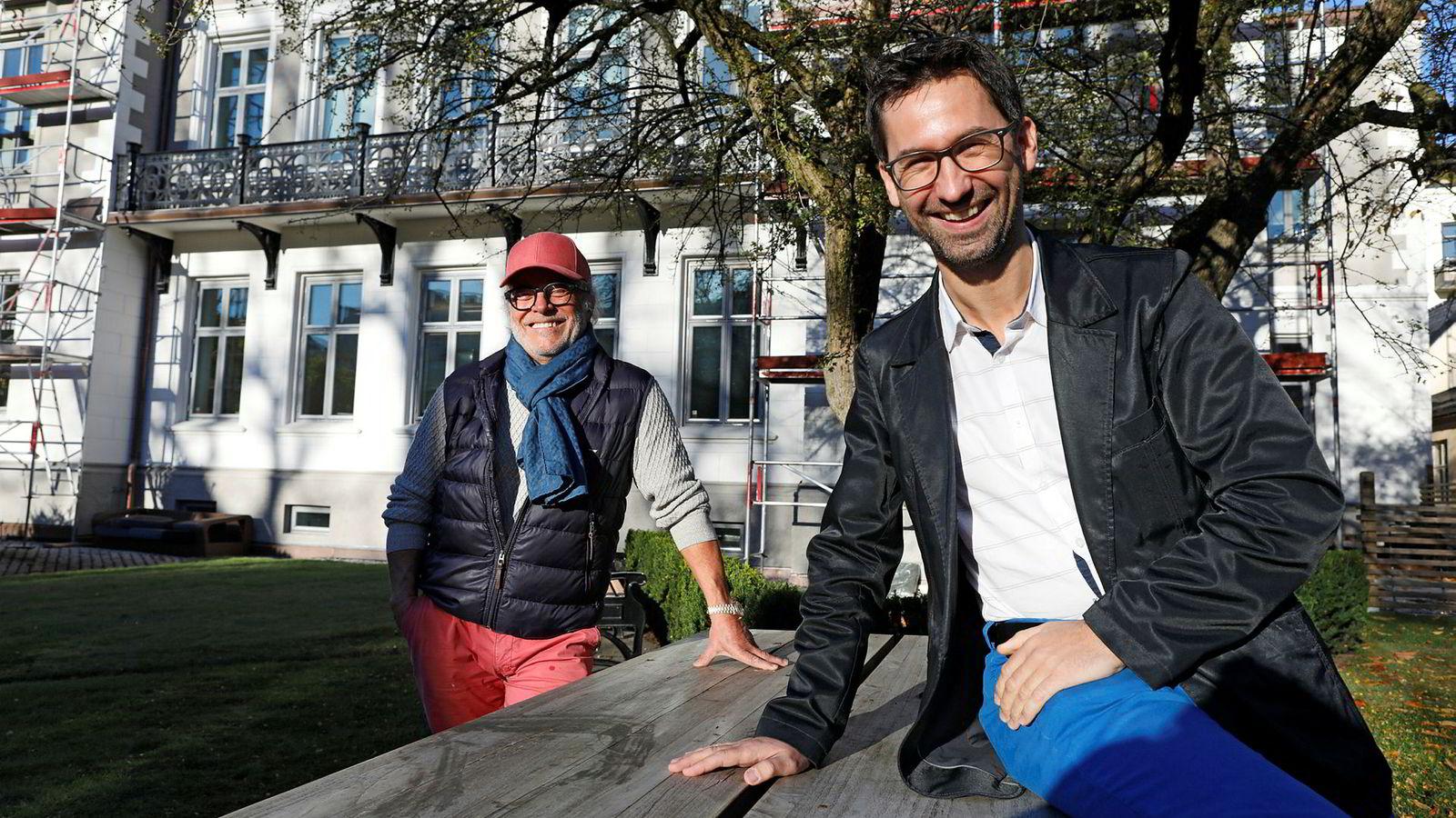 Åsmund Johan Mandal (til venstre) har selv startet flere bedrifter, og er nå en ledende investor i Business Angel Network Norway, der heltidsengel Jørn Lein-Mathisen er daglig leder.