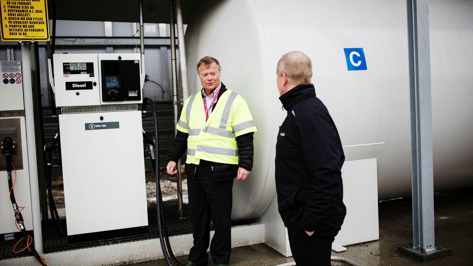 Her ved Askos tankanlegg i Trondheim er et eget anlegg for hydrogen satt i drift. Eier og styreleder Torbjørn Johannson har ikke mistet troen på hydrogen til tross for eksplosjonen i Sandvika.