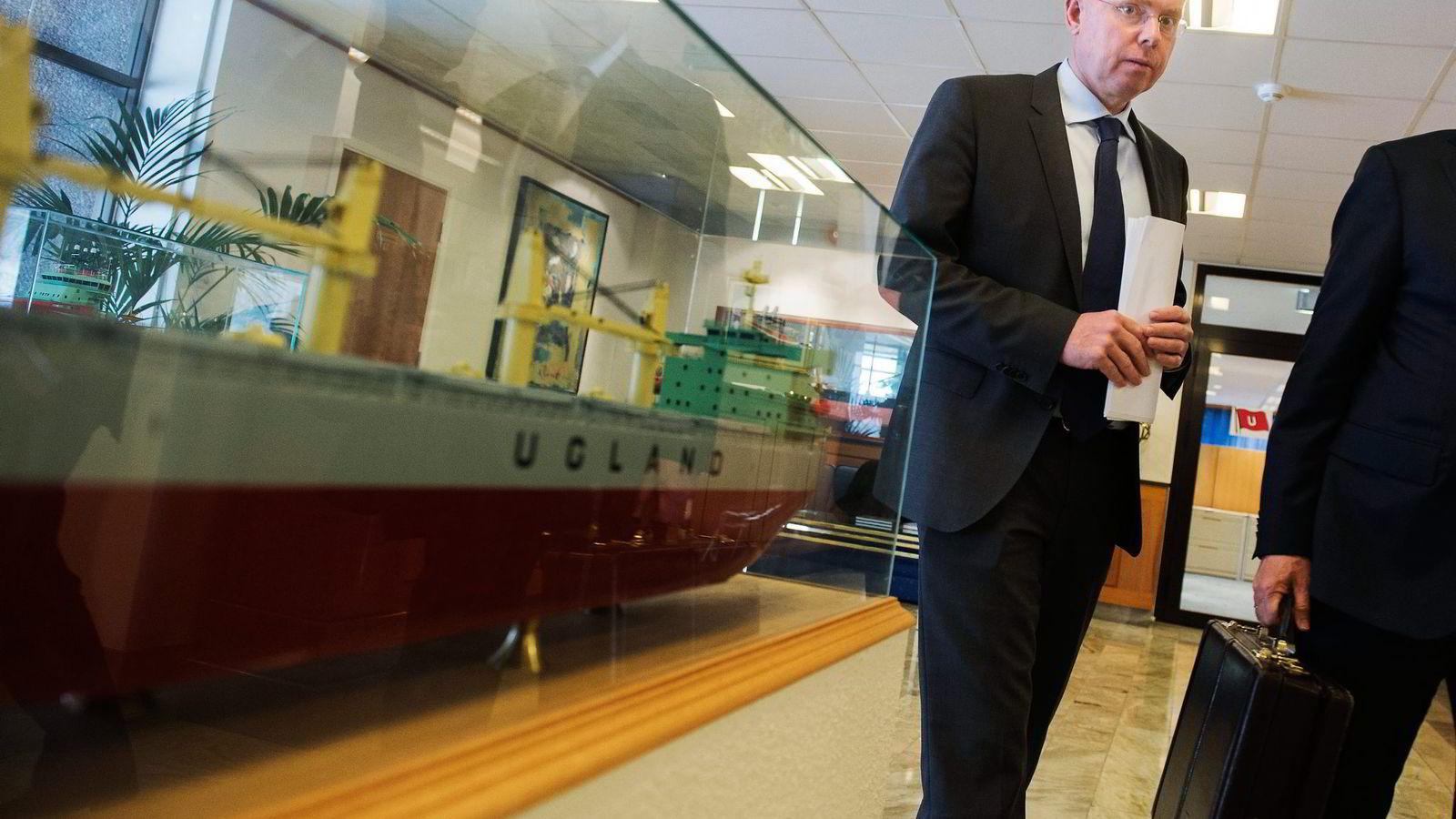 JJ Ugland-sjefen Øystein Beisland har beordret intern granskning av korrupsjonspåstandene. Foto: