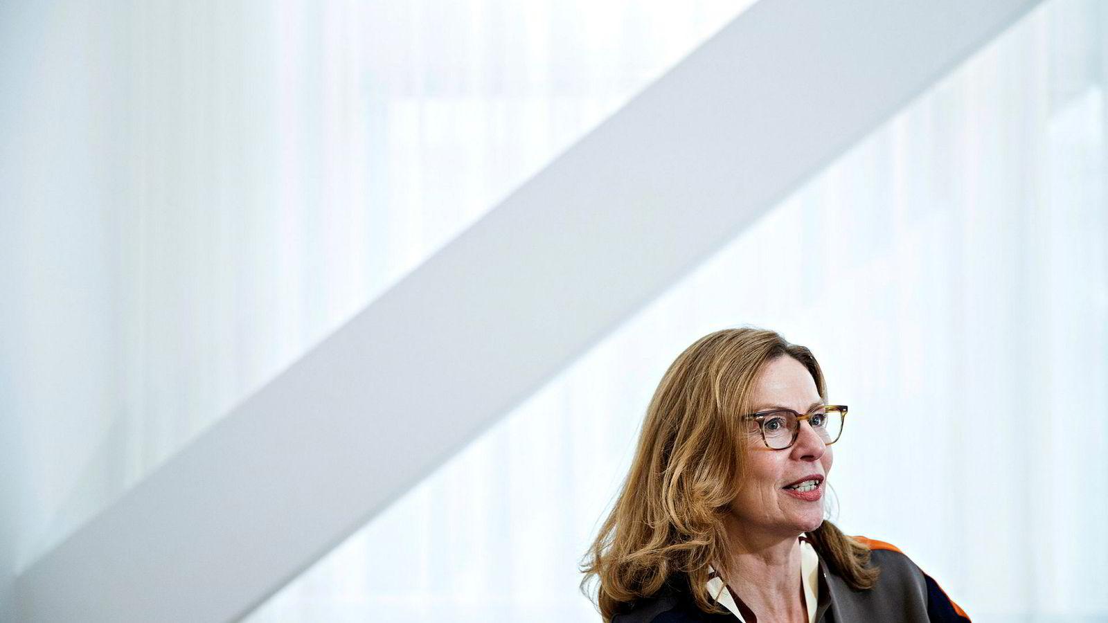 Birgitte Bonnesen, konsernsjef Swedbank, benektet at banken var involvert i hvitvasking i Baltikum. Nå er hun ikke like sikkert lenger.