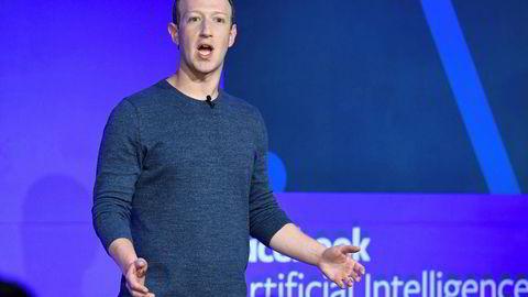 Facebook-gründer Mark Zuckerberg vil skape en global verdensvaluta med Libra. Her fra introduseringen av kryptovalutaen i juni i år.