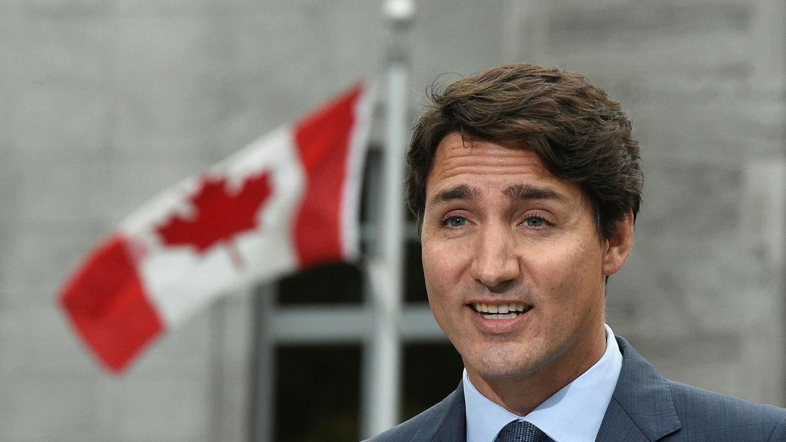 Canadas statsminister Justin Trudeau kommenterte pågripelsen fredag midt i valgkampen.