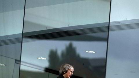 – Petrov og Bosjirov er agenter som jobber for Russlands militære etterretningstjeneste GRU, sa statsminister Theresa May i Parlamentet onsdag, der hun redegjorde for utviklingen i etterforskningen. Bildet er tatt ved en tidligere anledning.