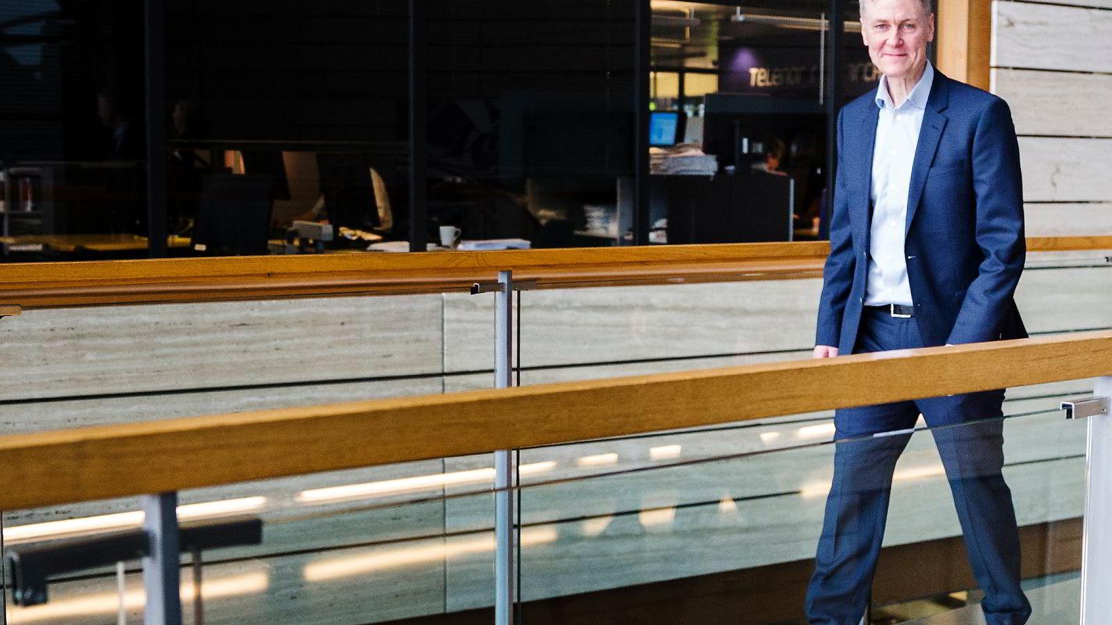 Forskningsdirektør i Telenor, Bjørn Taale Sandberg. Foto: Per Thrana