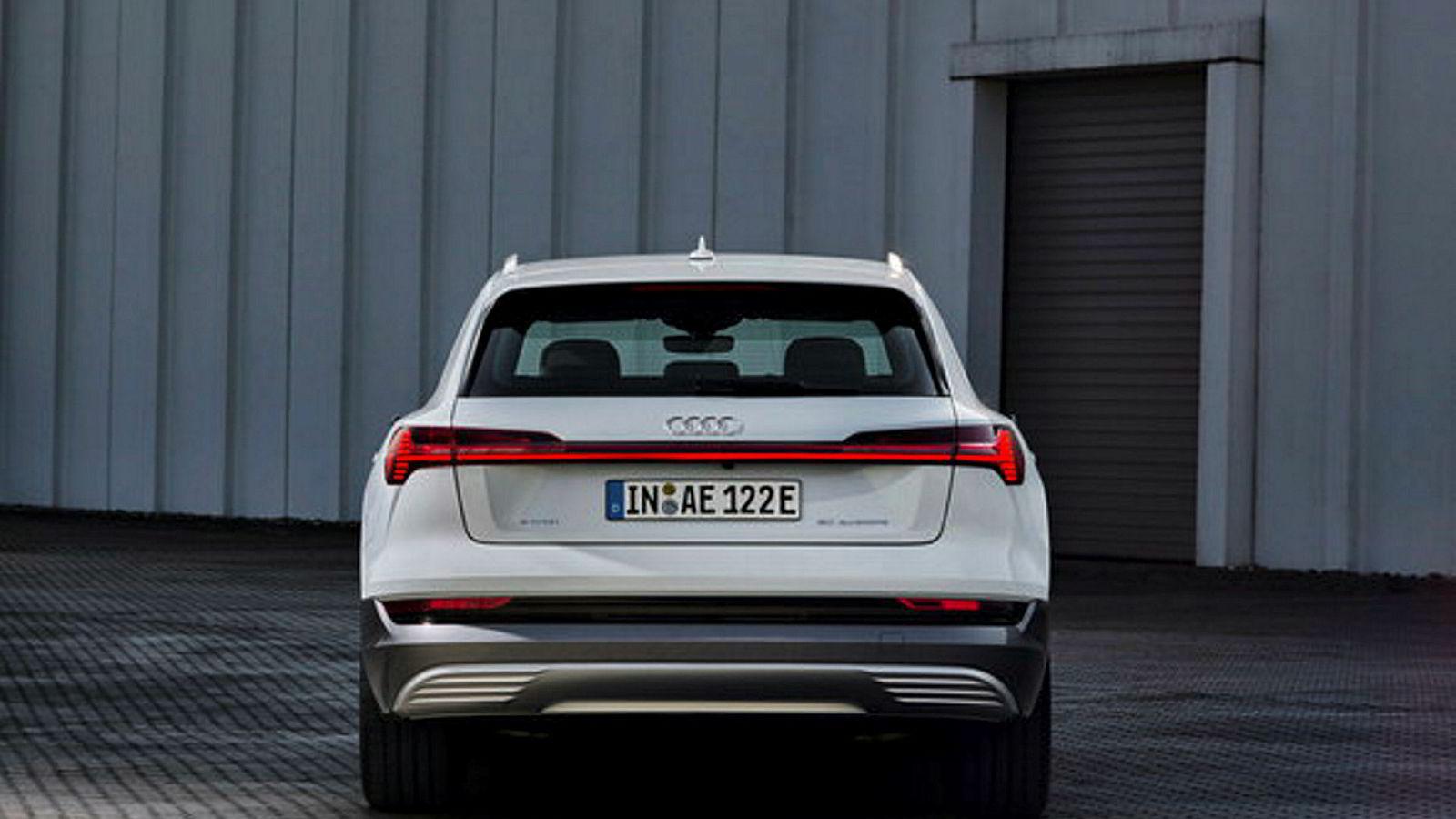 Audi E-tron 50 har omtrent akkurat det samme utstyret som E-tron 55, med unntak av batteriet.