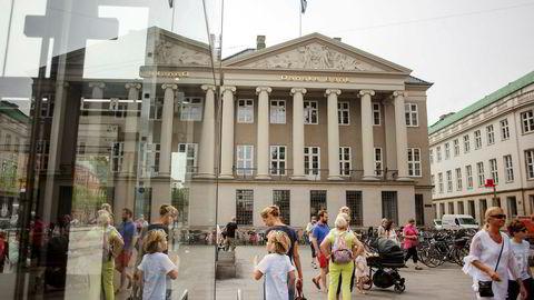 Danske Bank-saken undersøkes nå av myndighetene i en rekke land, inkludert av amerikanske myndigheter, og analytikere har spådd at saken kan ende med milliardbøter. Her Danske Bank i København, Danmark.