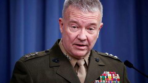 USAs øverstkommanderende i Midtøsten Kenneth «Frank» McKenzie mener Iran har tatt et steg tilbake.