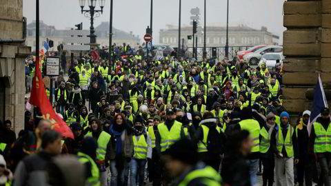 Den franske motstandsbevegelsen med gule vester samlet i fjor rundt 280.000 mennesker til opprør, fordelt på over 2000 ulike steder.