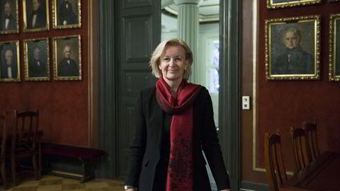 JOBBET SEG OPPOVER. Børsdirektør Bente Landsnes på Oslo Børs.                   FOTO: Berit Roald/