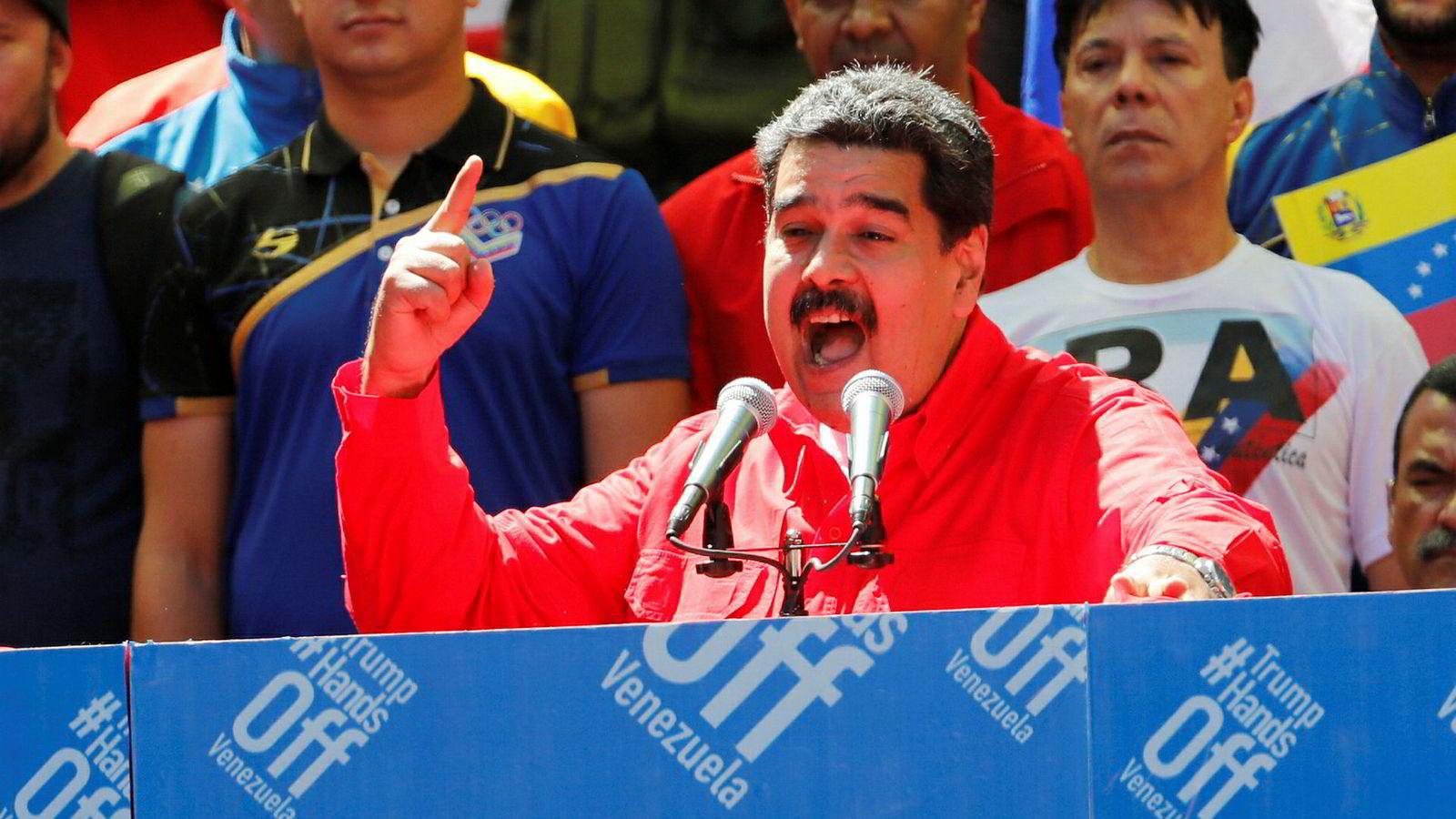 Norge opprettholder støtten til Venezuelas president Nicolas Maduro.