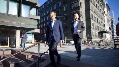 Anthon B. Nilsen AS, som driver flere privatskoler, eies av brødrene Peder (til venstre) og Nicolai Løvenskiold og en veldedig stiftelse. Foto: Fredrik Solstad