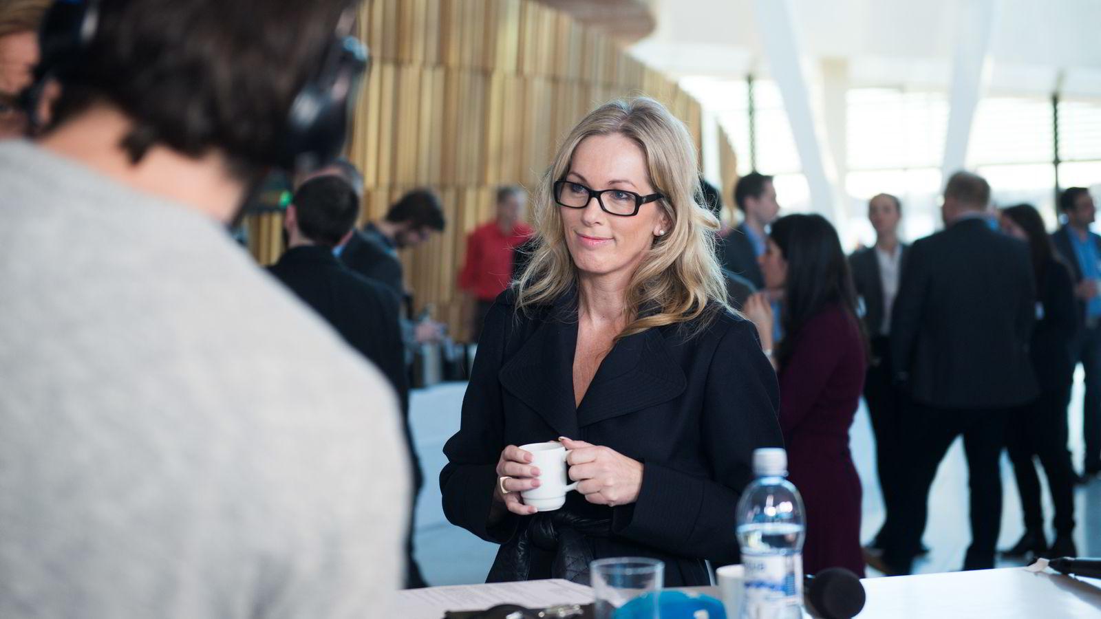 HEIER PÅ GRÜNDERNE. Innovasjon Norge-sjef Anita Krohn Traaseth. Her fotografert på NHO-konferansen i Oslo tidligere i år. FOTO: Per Ståle Bugjerde