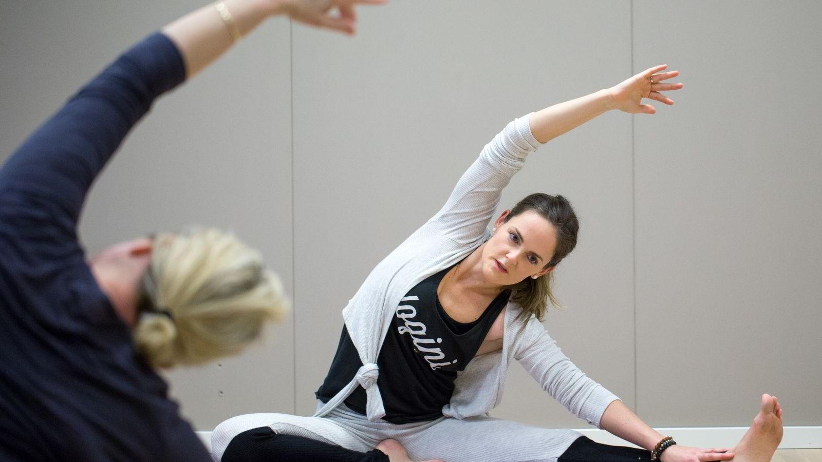 Henriette Kalgraff har ikke angret på at hun satset for fullt på yogaen. Foto:
