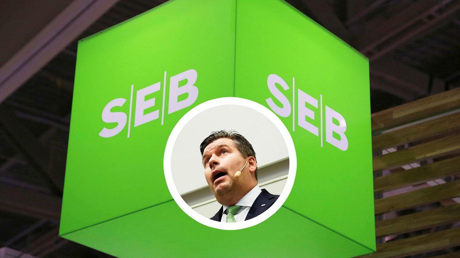 Konsernsjef Johan Torgeby i SEB har sett bankens aksje ned 16 prosent de siste tre dagene i kjølvannet av hvitvaskingssaken i Swedbank/Danske Bank. Her fra en tidligere kvartalsfremleggelse.