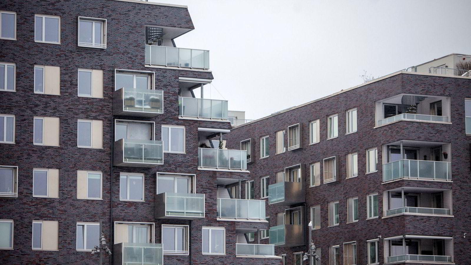 Boliglån utgjør den største gjelden til norske husholdninger. Illustrasjonsfoto fra Sørenga, Oslo.