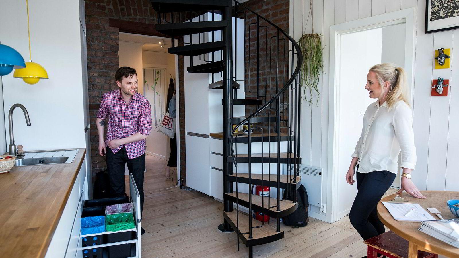 Visningen som eiendomsmegler Thea Egeland fra Aktiv Sagene holdt i denne leiligheten på Sagene i Oslo for noen uker siden var bare én av mange visninger som Stian Hole Sæbø var innom denne våren.