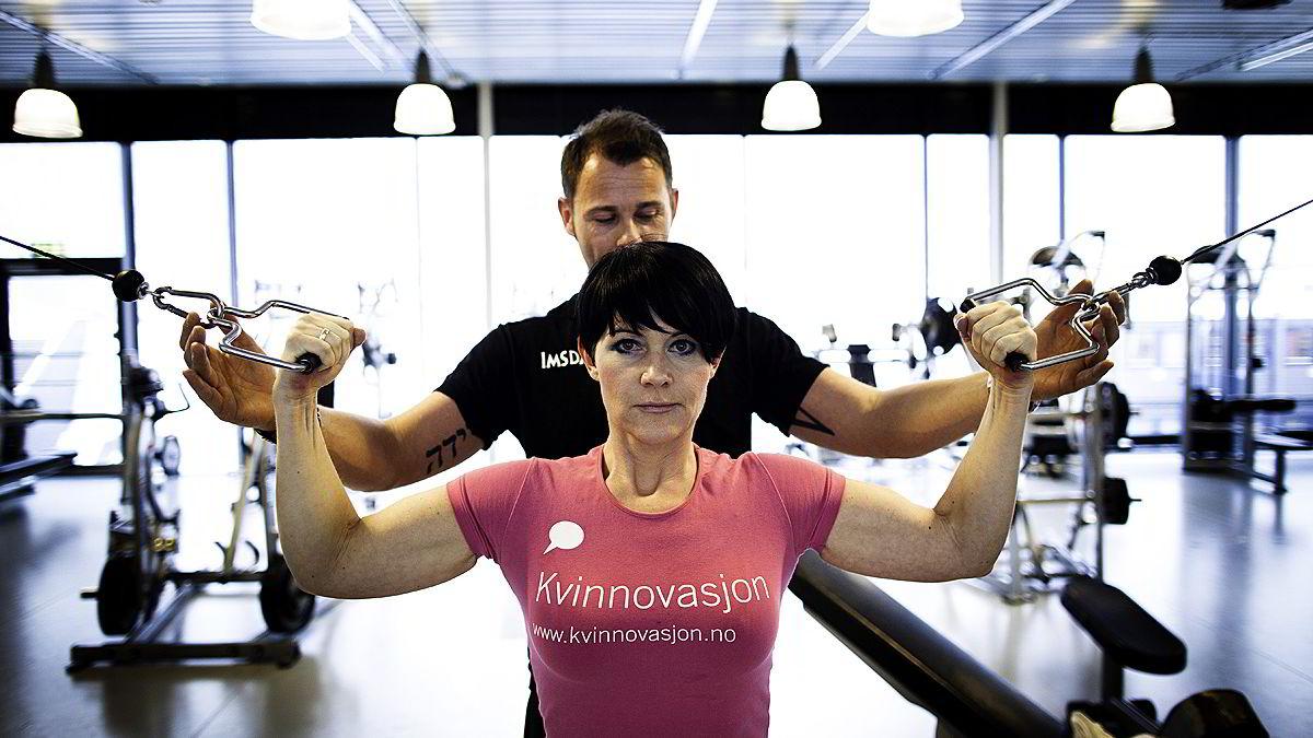 Christine Koht har gått ned 25 kilo etter at han begynte å trene igjen.