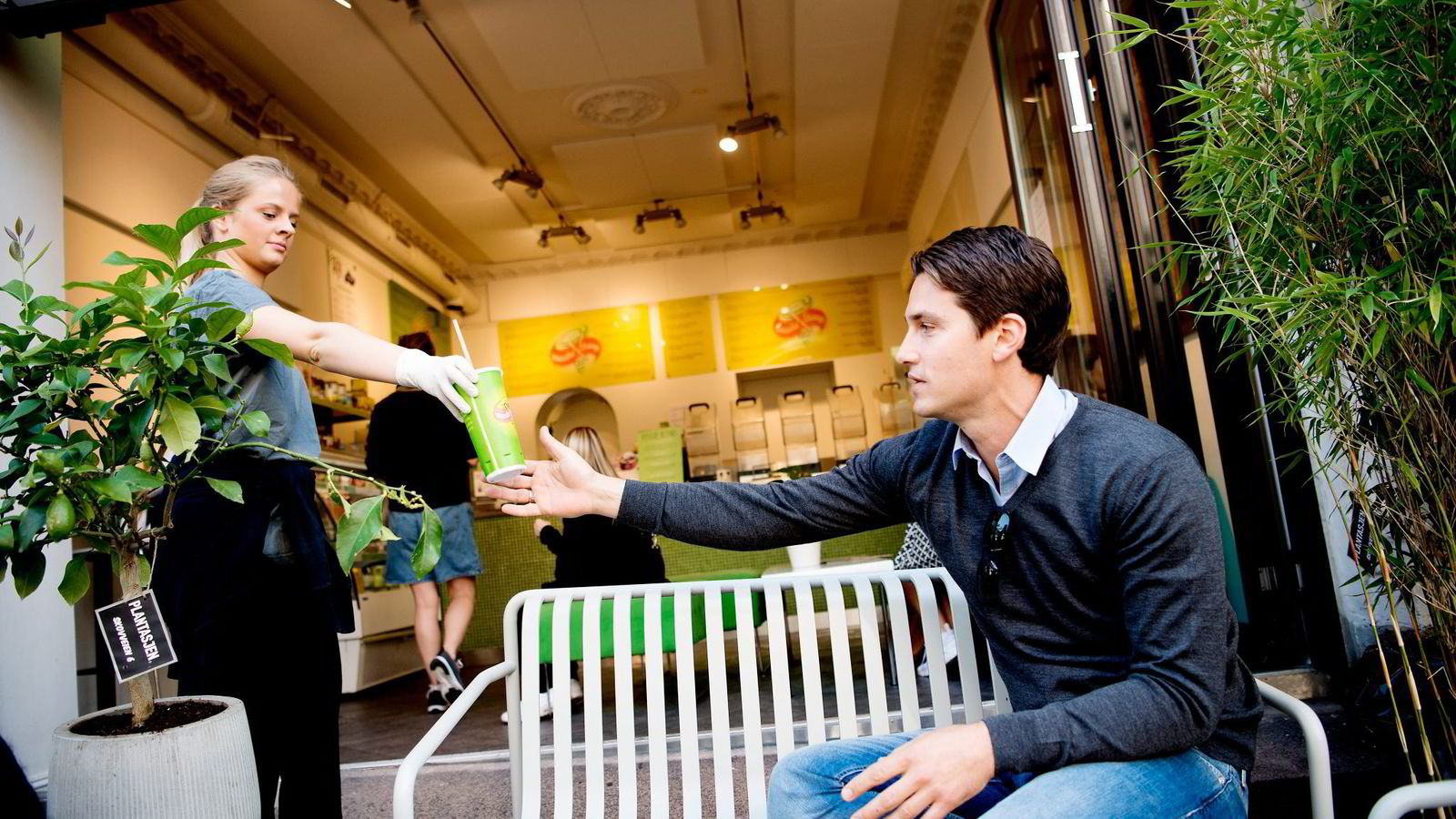 Magnus Berner og kona Lene Undheim Berner solgte smoothier for 50 millioner kroner i 2015.