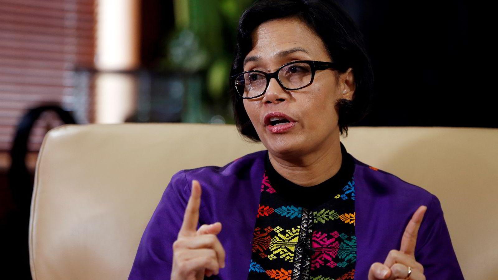 Indonesias finansminister Sri Mulyani Indrawati er glad for alle pengene som kommer inn i statskassen som følge av skatteamnestiet. Foto: Beawiharta/Reuters/NTB scanpix