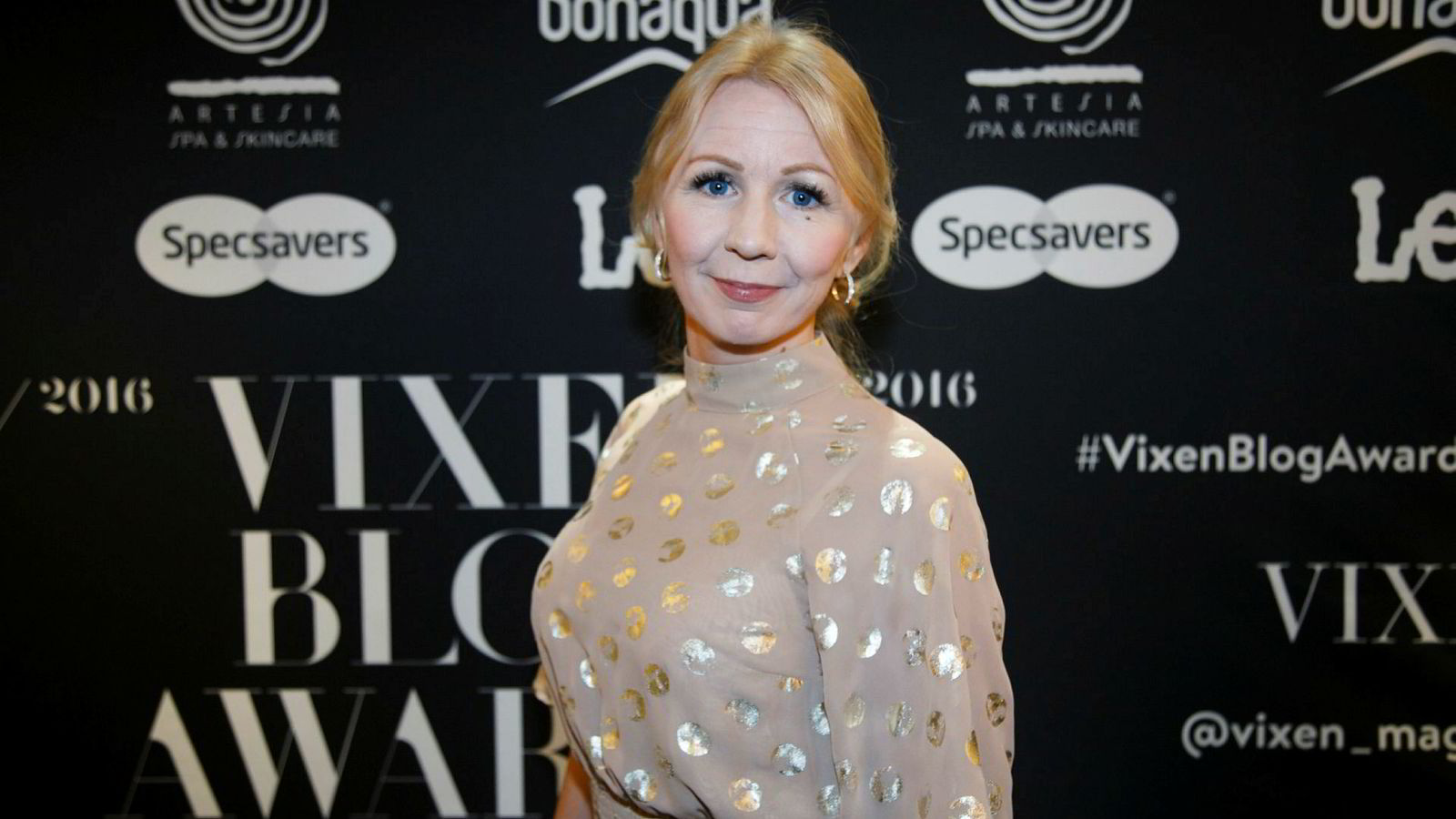 Blogger Anne Brith Davidsen ankommer Vixen Blog Awards 2016 på Grand Hotel.