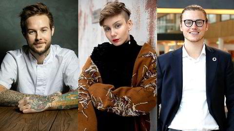 D2 skal finne ledestjerner: 30 under 30 år. Kjøkkensjef på restaurant Jimmy Øien (26), artist Ella Marie Hætta Isaksen (21) og nordisk bærekraftssjef i Storebrand Marcus Bruns (26) er nominerte.