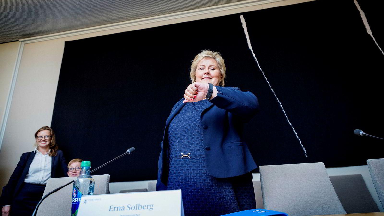 Statsminister Erna Solberg stilte til kontrollhøring om objektsikring denne uken. Der tok hun selvkritikk fordi regjeringen «burde kommunisert tidligere og tydeligere til Stortinget».
