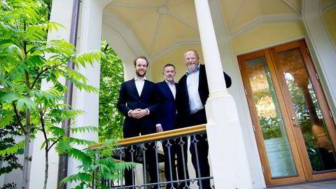 Marius Parmann (til venstre) og Bjarne Håkon Hanssen (til høyre) meldte overgang fra First House til Jan-Erik Larsens byrå Kruse Larsen før sommeren. Med på lasset blir også kunden Coop. Foto: Elin Høyland