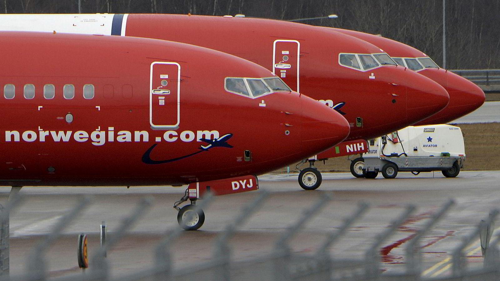 Norwegian-fly i Sverige.