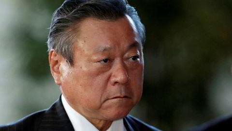 Yoshitaka Sakurada er Japans minister for kybersikkerhet og minister for OL i 2020.