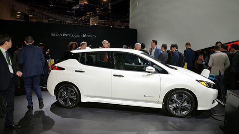 Nissan Leaf 3 Zero e+ ble nylig lansert i Las Vegas. Rekkevidden skal bli på 385 kilometer.