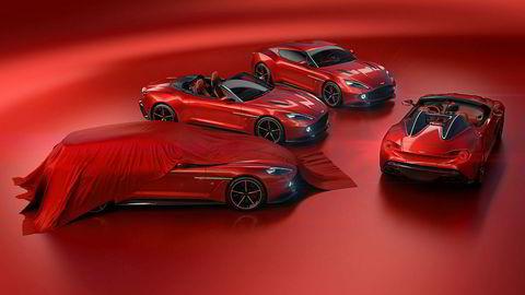 Aston Martins samarbeid med italienske Zagato har resultert i fire modeller. Shooting Brake står delvis tildekket, deretter kommer Volante, Coupe og Speedster.