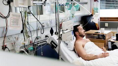 Karl Oscar Strøm (42) ble ifjor sommer liggende én uke på intensivavdelingen ved Bærum sykehus etter sin første, og siste, crossfit-økt.  Foto: Elin Høyland
