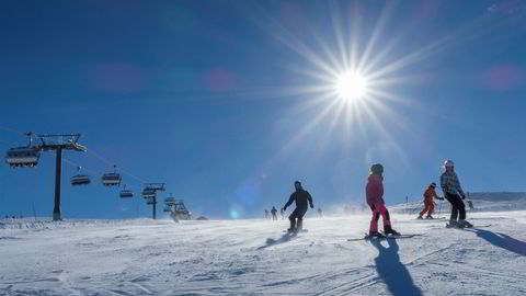 Knallvær i Sør-Norge har ført til besøksrekord ved en rekke skianlegg denne påsken. Her fra Trysil.