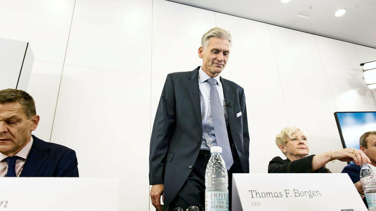 Thomas Borgen er ferdig som sjef i Danske Bank etter at han måtte slutte på dagen mandag. Han skulle egentlig sitte frem til en varig arvtager var på plass.
