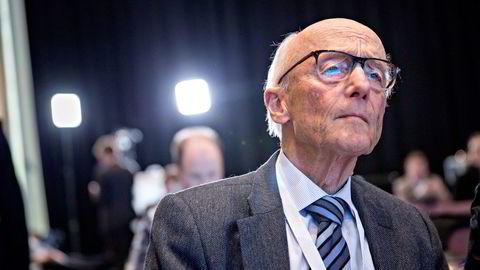 Kåre Willoch var gjest under siste dag av Høyre-landsmøtet. Her er han under fjorårets møte. Foto: Aleksander Nordahl