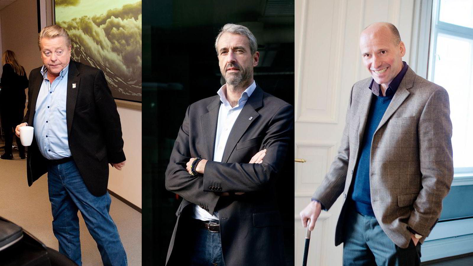 LOL-LOBBYEN. Idrettspresident Børre Rognlien (fra venstre), Olaf Thommessen og advokat Geir Lippestad er blant aktørene som gjør OL til LOL, mener kommentator Torgrim Eggen.