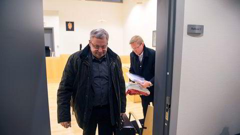 Eiendomsinvestor Lloyd Kleivene, her i Arendal tingrett, mener Sparebanken Sør bidro vesentlig til at Prima-konkursen ble så omfattende. Foto:
