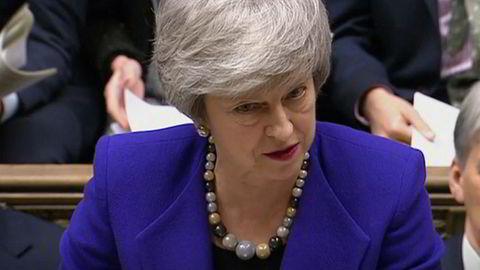 Theresa May ba tirsdag Underhuset om mer tid til å forhandle med EU.