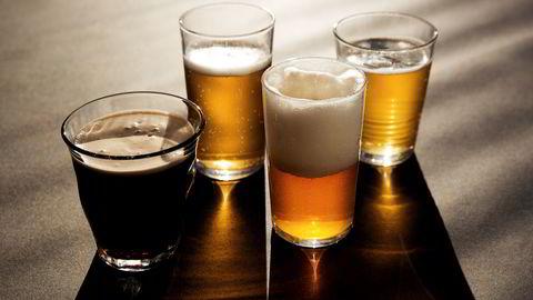 Øl i mange varianter lanseres på syv spesialpol i morgen tidlig. Foto: