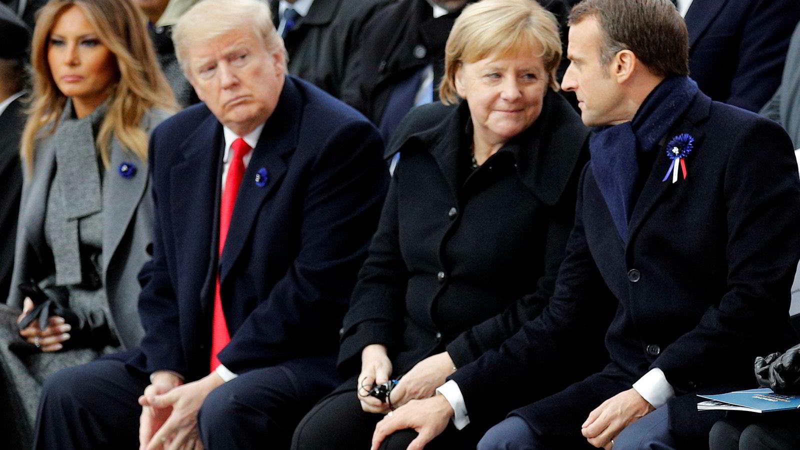 USAs president Donald Trump krever at Nato-landene øker forsvarsbudsjettene sine.