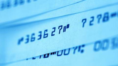 INKASSO: Inkassokrav sendes ut ved manglende innbetaling av regninger. FOTO: COLOURBOX