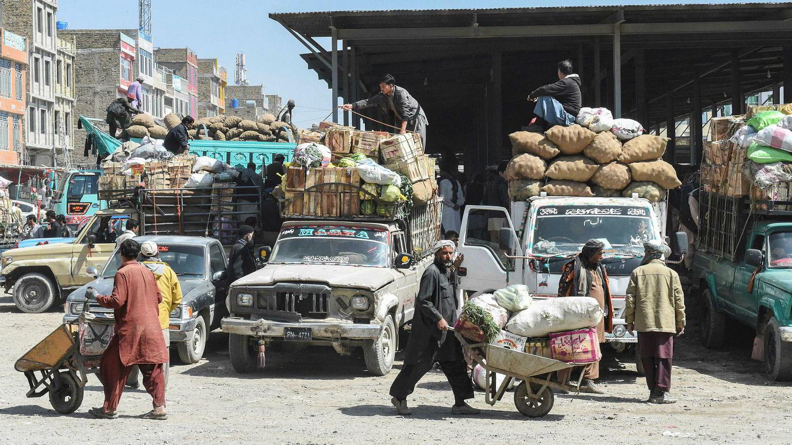 Pakstan får en stor redningspakke fra IMF. Bildet er fra den pakistanske byen Quetta.