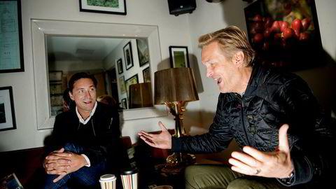 Reklametopp Christian Steen (til venstre) og TV 2-direktør Trond Kvernstrøm startet nytt byrå i oktober.  Foto: Mikaela Berg