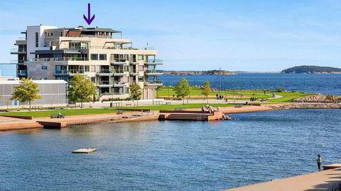 Cathrine Rasmussen har solgt toppleiligheten ytterst på Tangen i Kristiansand og satt prisrekord for en leilighet omsatt i det åpne markedet i sørlandsbyen.