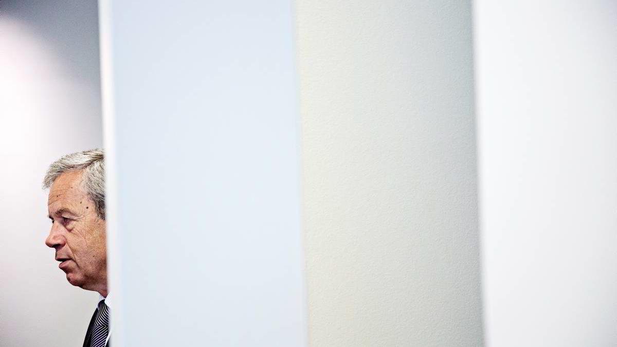 """Sentralbanksjef Øystein Olsen åpnet Norges Banks konferanse """"The Role of Monetary Policy Revisited"""" torsdag. Arkivbilde."""